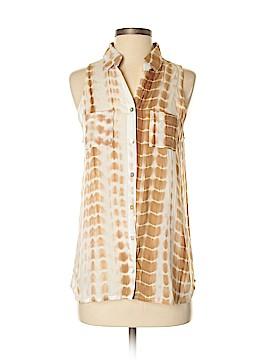 Kori America Sleeveless Button-Down Shirt Size S