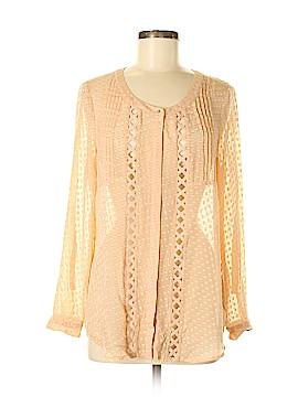 Meadow Rue 3/4 Sleeve Silk Top Size M