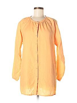 Eileen Fisher Long Sleeve Button-Down Shirt Size M