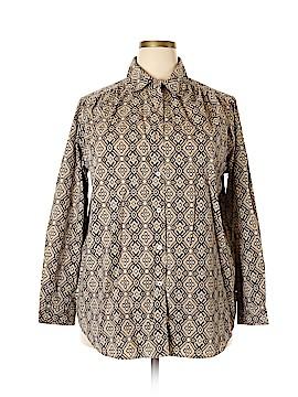 Roaman's Long Sleeve Button-Down Shirt Size 18 (Plus)