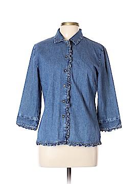 J. Marco Long Sleeve Button-Down Shirt Size L