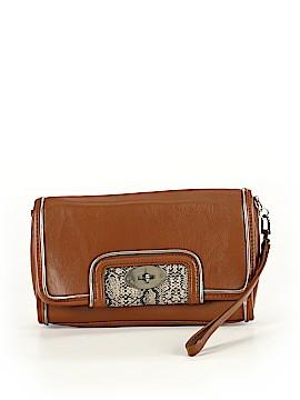 BCBGMAXAZRIA Leather Wristlet One Size