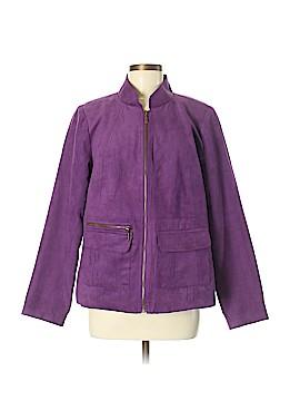 Susan Graver Faux Leather Jacket Size M