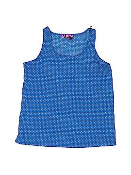 Aqua Sleeveless Blouse Size M (Kids)