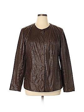 Dana Buchman Faux Leather Jacket Size XL