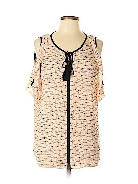 Libby Edelman Short Sleeve Blouse Size L