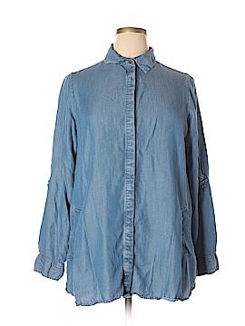 Avenue Long Sleeve Button-Down Shirt Size 14 - 16 Plus (Plus)