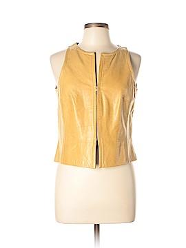 Tara Jarmon Faux Leather Top Size 42 (FR)