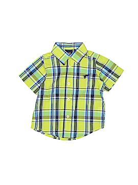 Wrangler Jeans Co Short Sleeve Button-Down Shirt Size 18 mo