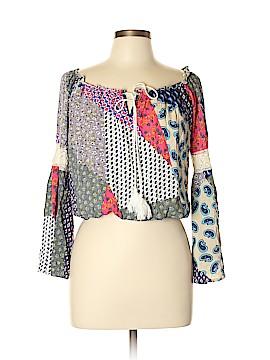 Michelle Nicole 3/4 Sleeve Blouse Size L