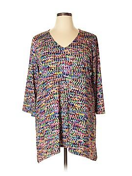 Slinky Brand 3/4 Sleeve Top Size 1X (Plus)