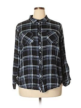 DressBarn Long Sleeve Button-Down Shirt Size 2X (Plus)