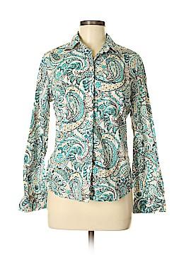 Jones New York Country Long Sleeve Button-Down Shirt Size M