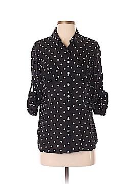 White House Black Market Long Sleeve Silk Top Size 2