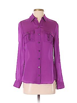 White House Black Market Long Sleeve Silk Top Size 0