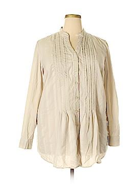 Style&Co Long Sleeve Blouse Size 18 (Plus)