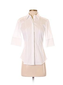 White House Black Market Short Sleeve Button-Down Shirt Size 0