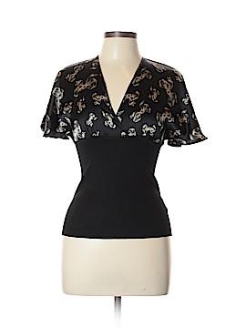 Bebe Short Sleeve Silk Top Size L
