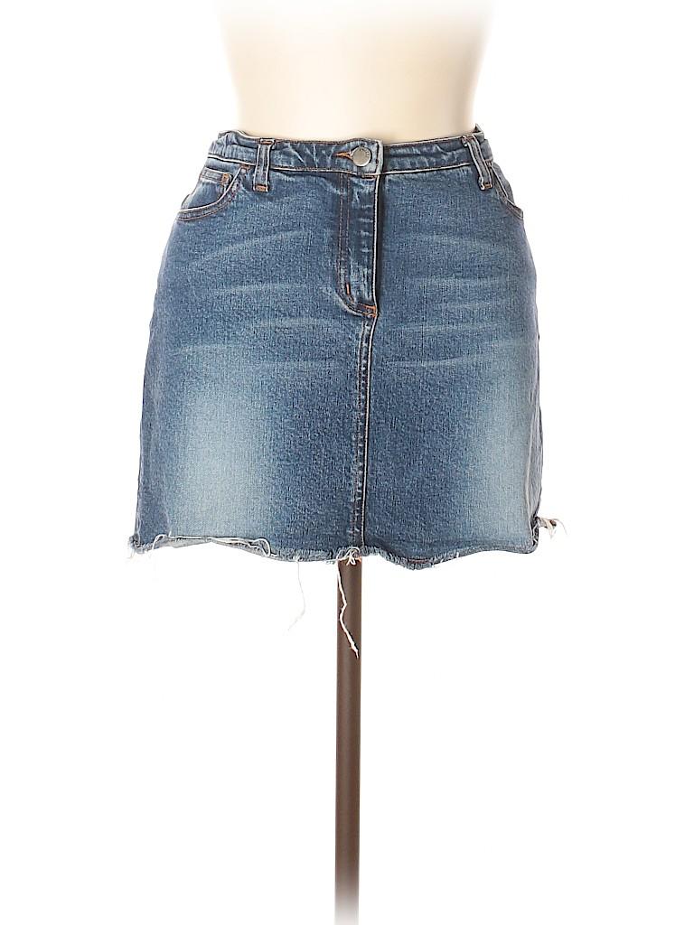 Theory Women Denim Skirt Size 10