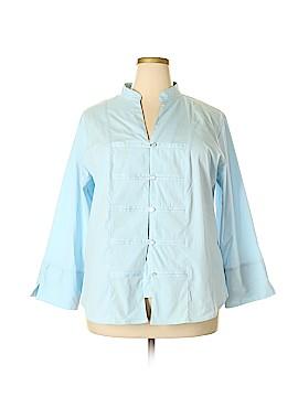 DressBarn Long Sleeve Button-Down Shirt Size 18 (Plus)