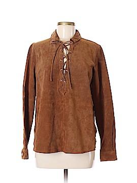 Mango Leather Jacket Size S