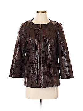 Susan Graver Faux Leather Jacket Size XS