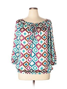 Roz & Ali 3/4 Sleeve Blouse Size 14 - 16