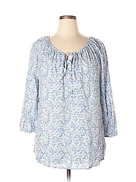 Carole Little 3/4 Sleeve Button-Down Shirt Size XL
