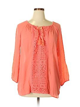 Valerie Stevens 3/4 Sleeve Blouse Size XL