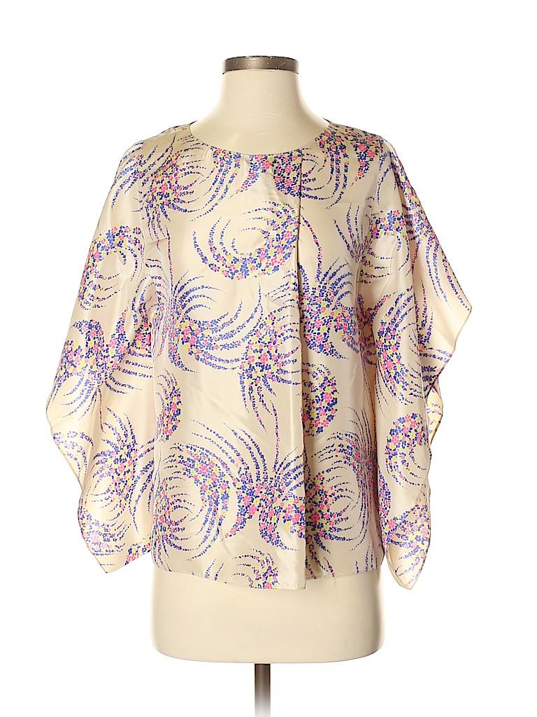 Vanessa Bruno Women Short Sleeve Silk Top Size 36 (EU)
