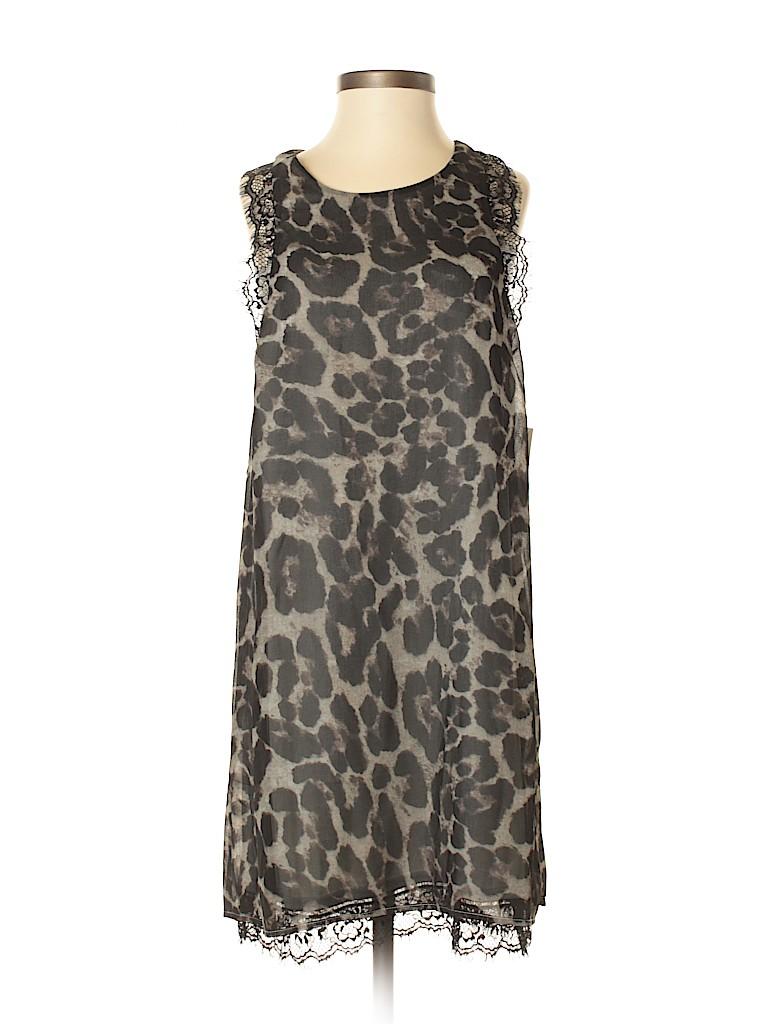 8073bb932f TOBI 100% Polyester Animal Print Black Casual Dress Size S - 76% off ...