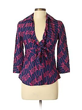 Diane von Furstenberg 3/4 Sleeve Button-Down Shirt Size 8