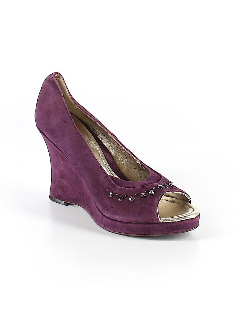 American Eagle Shoes Print Dark Purple Wedges Size 9 55 Off Thredup