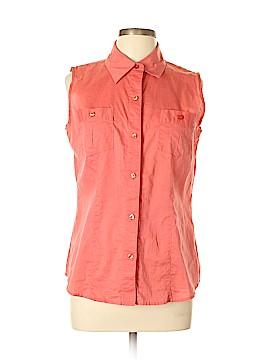 Villager Sport by Liz Claiborne Sleeveless Button-Down Shirt Size 12