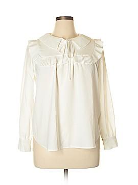 Navy Long Sleeve Blouse Size 12