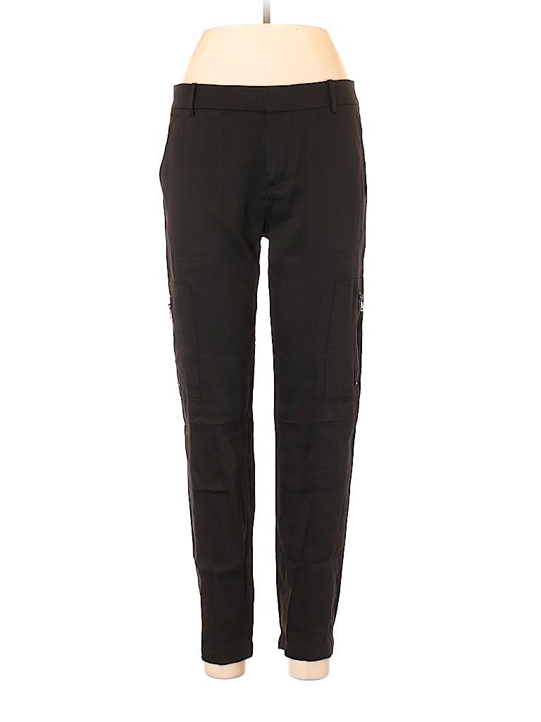 8034840cc6 Vince. Solid Black Linen Pants Size 6 - 78% off