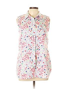 Lands' End Sleeveless Button-Down Shirt Size 12 (Tall)