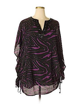 Completely Me by Liz Lange Short Sleeve Blouse Size 3X (Plus)