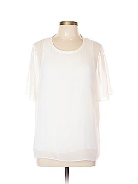 Vince. Short Sleeve Silk Top Size L
