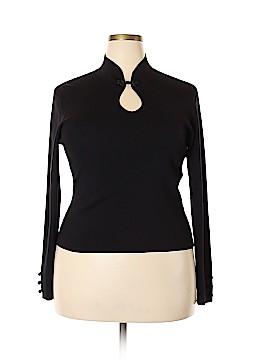 Talbots Long Sleeve Silk Top Size XL