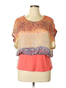 MULTIPLES Short Sleeve Blouse Size XL (Petite)