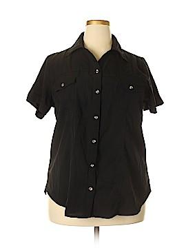 Millenium Short Sleeve Button-Down Shirt Size 1X (Plus)