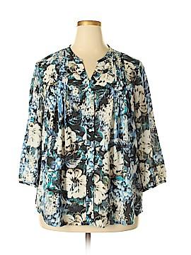 IZOD Short Sleeve Blouse Size 2X (Plus)