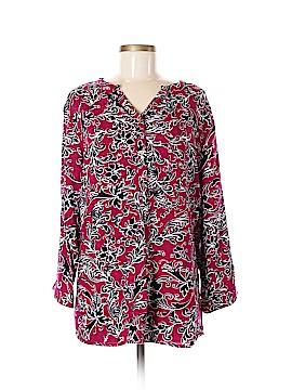 Rebecca Malone Long Sleeve Blouse Size XL