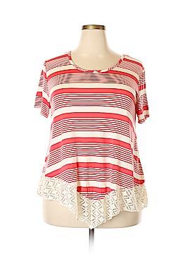 Discreet Short Sleeve Blouse Size 2X (Plus)