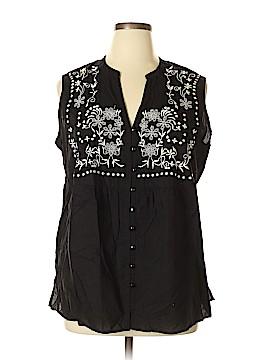 Kim Rogers Signature Sleeveless Blouse Size XL