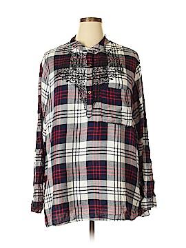 Jane Ashley Long Sleeve Blouse Size 3X (Plus)