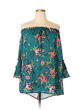 Xhilaration Short Sleeve Blouse Size 4X (Plus)