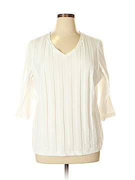 D&Co. 3/4 Sleeve Top Size 1X (Plus)