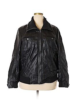 Pure Energy Faux Leather Jacket Size 3X (Plus)